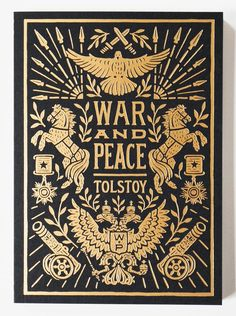 War and Peace Book Cover by Lettering Artist Dana Tanamachi Book Cover Art, Book Cover Design, Book Art, Vintage Book Covers, Vintage Books, Illustration Art Nouveau, Buch Design, Beautiful Book Covers, Classic Books