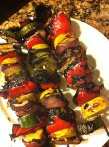 Healthy Side Dish Idea! Vegetable Kebabs!