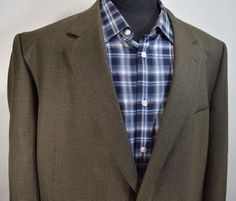 PRISTINE PRONTO UOMO mens olive wool sport coat blazer jacket 48R 48 regular R #prontouomo #TwoButton