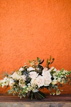 Pink and Orange playful bridal bouquet by Cultivate Goods - Retro Neon Museum Micro-Wedding - Kristen Kay Photography | Heart-shaped sun glasses, pink fur shawl, lace BHLDN gown | Featured on Carats & Cake Floral Wedding, Wedding Colors, Wedding Flowers, Floral Bouquets, Wedding Bouquets, Wedding Flower Inspiration, Color Inspiration, Modern Floral Arrangements, Wedding Planning Guide