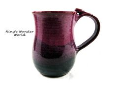 Pottery mug Handmade mug Ceramic mug Coffee by Ningswonderworld, $28.00