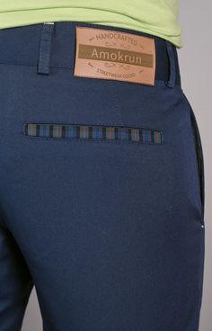 Chino pants details. www.amokrun.com
