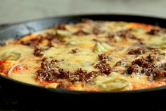 Pizzaomelett med tacofyllning - Jennys Matblogg Pizza, Budget Meals, Cheeseburger Chowder, I Foods, New Recipes, Tacos, Lunch, Soup, Meat