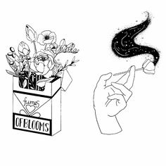 Fumes of blooms Version 1 Tattoo Drawings, Art Drawings, Desenhos Old School, Aesthetic Art, Doodle Art, Doodle Sketch, Art Inspo, Painting & Drawing, Line Art