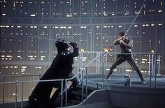 So far the most epic Behind-the-scenes photo of Luke vs Vader in ESB.