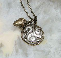 Squirrel necklace.