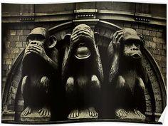 Sanzaru See no evil, hear no evil, speak no evil. Japanese proverbe