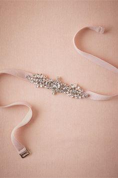 Mischka Bridesmaid Belt in blush from @BHLDN