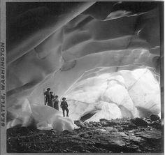 Ice Cave, Paradise Glacier, Washington, c. 1908