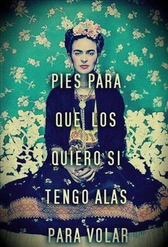 """Trans: """"Feet.  Why do I want them when I have wings to fly?"""" Frida"""