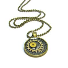 Gears Necklace, Etsy Steampunk Jewelry