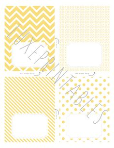 Pretty labels and table tents for parties and labeling foods