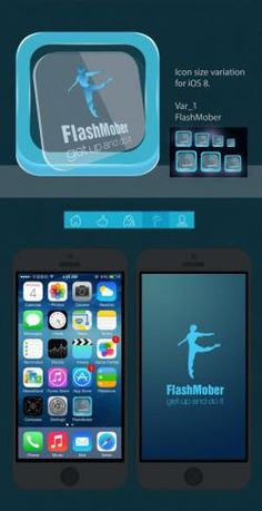 Логотип и кнопка для мобильного приложения FlashMober http://itkp.com.ua/flashmober-logotip-knopka-dlya-mobilnogo-prilozheniya