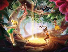 Disney Tinkerbell Fairies Wall Mural