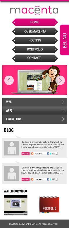 Mobile website development for macenta