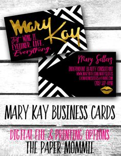 Mary Kay Business Card Custom New Logo Just Wing By Thepapermommie