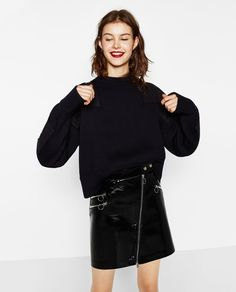 Image 2 of MINI SKIRT WITH ZIPS from Zara