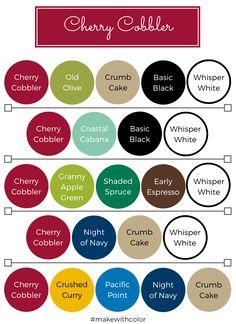 Color Inspiration - Part 2 - Mackenzie Makes Scheme Color, Color Combinations, Color Schemes, Stampin Up, Color Of The Week, Color Style, Color Mix, Colour Match, Color Palettes