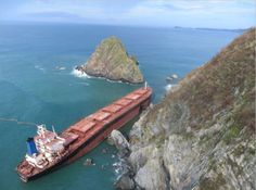 """The bulk carrier """"M/V Los Llanitos"""" is breaking apart and close to sinking off…"""