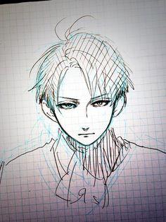 Yamamori Mika sketch Shingeki no Kyojin