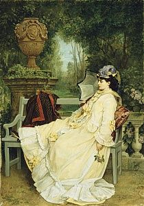 In the Garden, 1872 by Auguste Toulmouche as fine art print. Stretched on canvas or printed as photo. We produce your artwork exactly like you wish. With or without painting frame. Tropical Art, Victorian Art, Rose Art, Beach Landscape, Figurative Art, Painting Frames, Find Art, Framed Artwork, Oil On Canvas