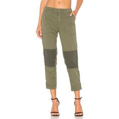 MOTHER The Army Racketeer Pant ($115) ❤ liked on Polyvore featuring pants, brown skinny pants, summer pants, cotton summer pants, army pants and brown pants