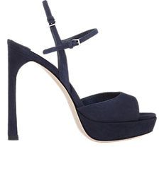 Suede Double Ankle-Strap Sandals