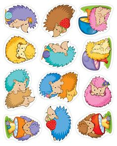Carson Dellosa Stickers, Happy Hedgehogs Shape Die-cut shapes Acid- free and lignin free 72 count Happy Hedgehogs collection Happy Hedgehog, Hedgehog Craft, Impression Etiquette, Lacing Cards, Mothers Day Crafts, Penny Black, Digi Stamps, Scrapbook Stickers, Kids Learning