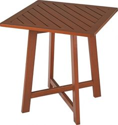 Mesa Dobrável Quadrada 70x70cm de Madeira Jatobá com Eco Blindage Fold - 13757076 : Mesas - Mesas de Refeição | Tramontina