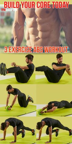 If you're looking to train your abs, the good news is that there are a huge variety of exercises that will help you achieve that goal. Even if you're not doing moves that focus on them directly, the. Yoga Fitness, Fitness Tips, Fitness Motivation, Fitness Models, Best Body Weight Exercises, Ab Roller, Compound Exercises, Lower Belly Fat, Belly Fat Workout