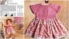 Örgü hırka modelleri kız bebek. Çocuk örgü elbise modelleri ve yapılışı. Çocuk örgü elbise modelleri. Kız çocuğu örgü elbise açıklamalı.
