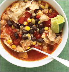Vegetarian tortilla soup!