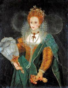 Queen Elizabeth I with a Fan, 1590s Unknown artist