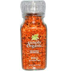 Simply Organic, Adjustable Grinder Cap, BBQ Ground Up, 3.88 oz (110 g) - iHerb.com