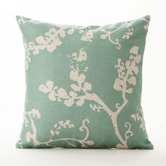 Square x Cotton Linen Blend Zipper Closure Insert not included Exotic Plants, Tropical Plants, Sofa Home, Green Cotton, Throw Pillow Covers, Cotton Linen, Pillow Inserts, Decorative Throw Pillows, Cushions