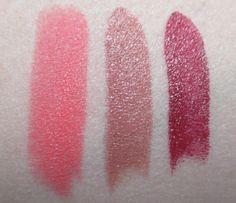 Papaya Punch, Succumb, and Cherry Swatches, Sleek True Colour Lipstick | RagingRouge.com