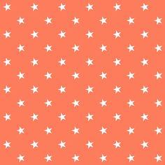 free digital orange  scrapbooking paper with stars: printable DIY wrapping paper