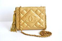 Gold Chanel tassel bag