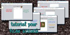 La maternelle de Laurène: Tutoriel fiches d'activités