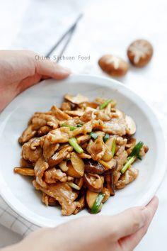 pork and mushroom stir fry. Leave out veg and add fresh for each reheated batch Healthy Pork Tenderloin Recipes, Pork Recipes, Asian Recipes, Cooking Recipes, Healthy Recipes, Cooking Wine, Asian Cooking, Asia Food, Mushroom Stir Fry