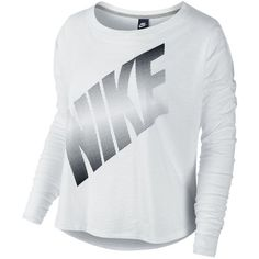 Whether you're working out or hanging out, this women's Nike tee delivers classic, athletic style. Product Features: Nike dot graphic. Scoopneck. Long sleeves.…