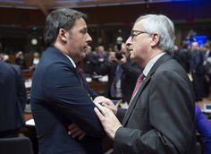 Matteo Renzi e Jean Claude Juncker, lo scontro fra Roma e Bruxelles