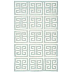 Safavieh Dhurries Blue/Ivory Area Rug Rug Size: 9' x 12'