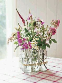 Beautiful country flower arrangement