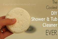 No, it's not a sugar cookie-- it's actually the coolest way to clean your bathtub that you've ever seen.