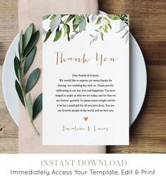Wedding Thank You Note Template Unique Thank You Letter Template Wedding Reception Thank You Thank You Letter Template, Notes Template, Letter Templates, Wedding Programs, Wedding Invitations, Wedding Thank You Cards Wording, Wedding Stationery, Wedding Signage, Shower Invitations