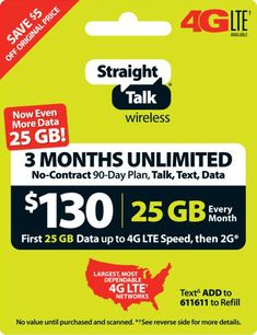 Straight Talk Rob Refill Card 90 Day Unlimited Talk Text Data Genuine Top Up