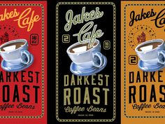 Jakes Coffee Packaging by David Cran Follow us on Instagram @graphicdesignblg