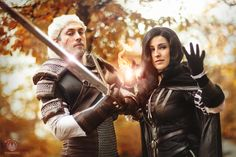 Geralt of Rivia, Yennefer Cosplay