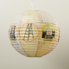 The Land of Nod | Turn It Up Paper Lantern in Hanging Décor